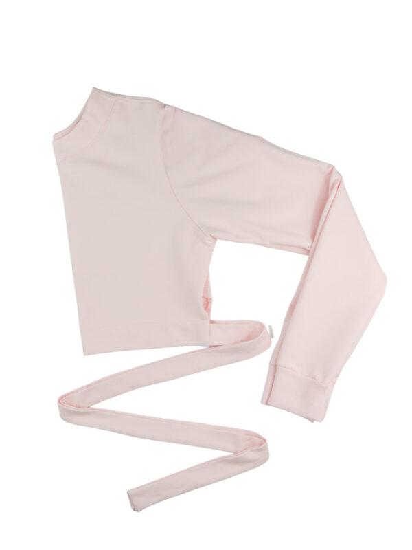 Bluza dresowa baby pink
