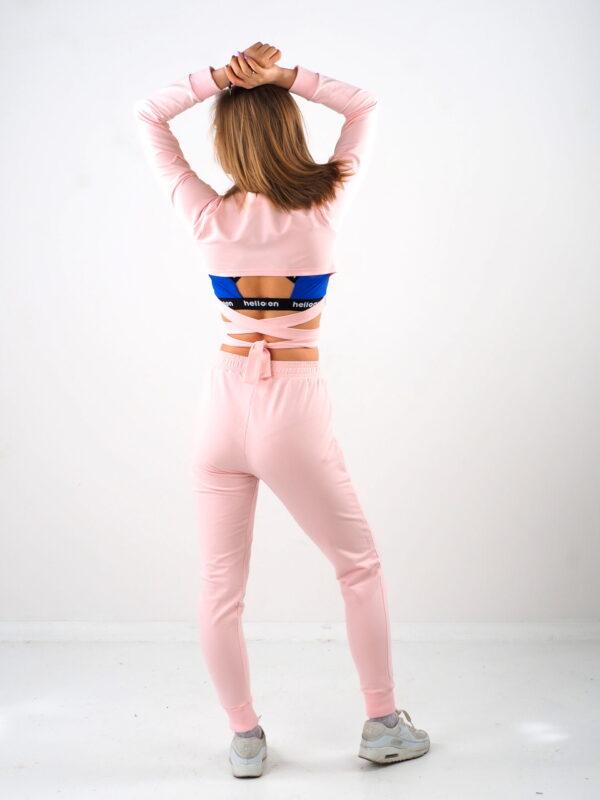 Spodnie dresowe baby pink