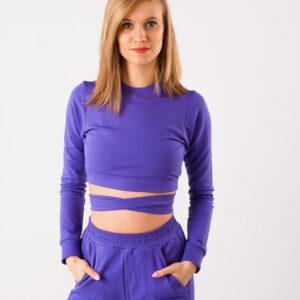 Bluza dresowa fioletowa