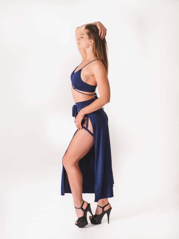 Strój do exotic pole dance navy blue